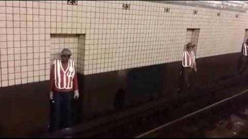 ¿Dónde van los trabajadores del metro cuando llega el tren?