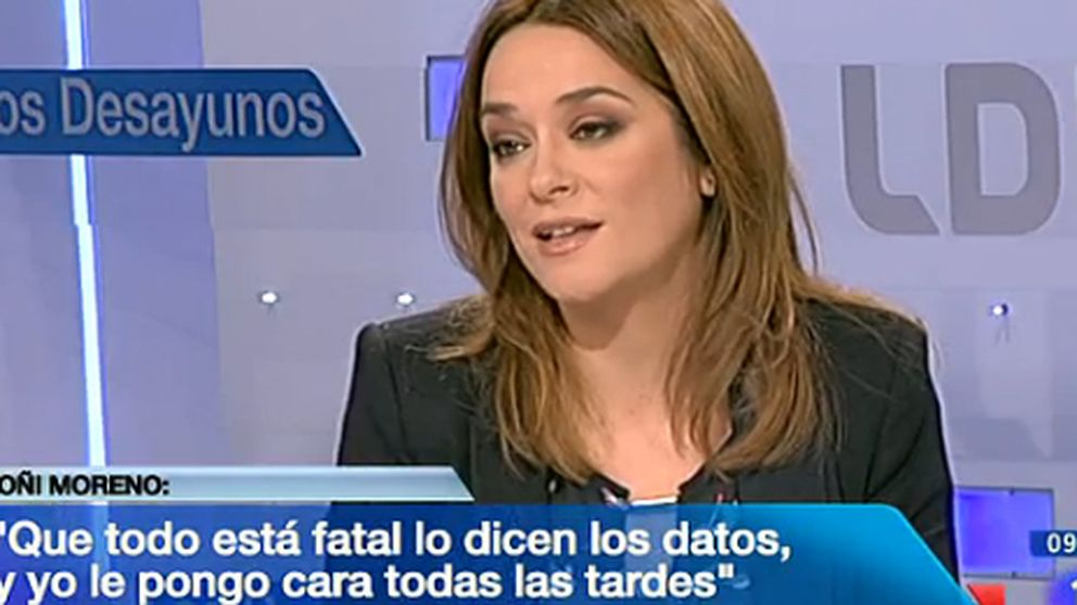 Toñi Moreno se defiende de las críticas en 'Los Desayunos de TVE'