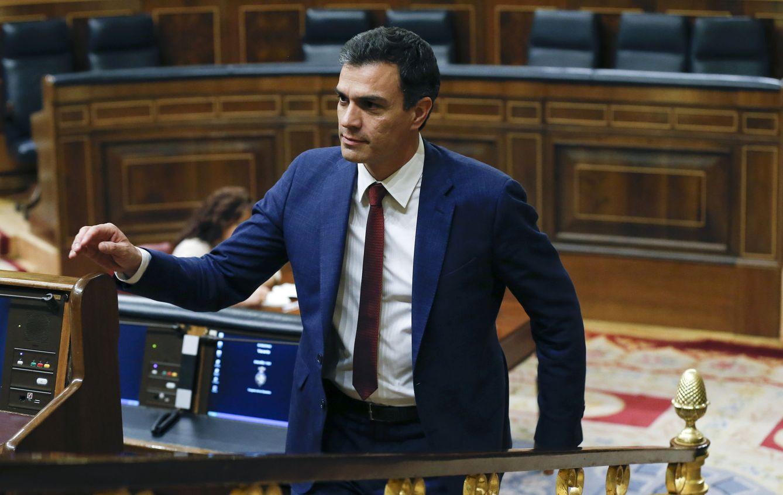 Pedro Sánchez, este 19 de abril en el pleno del Congreso. (EFE)