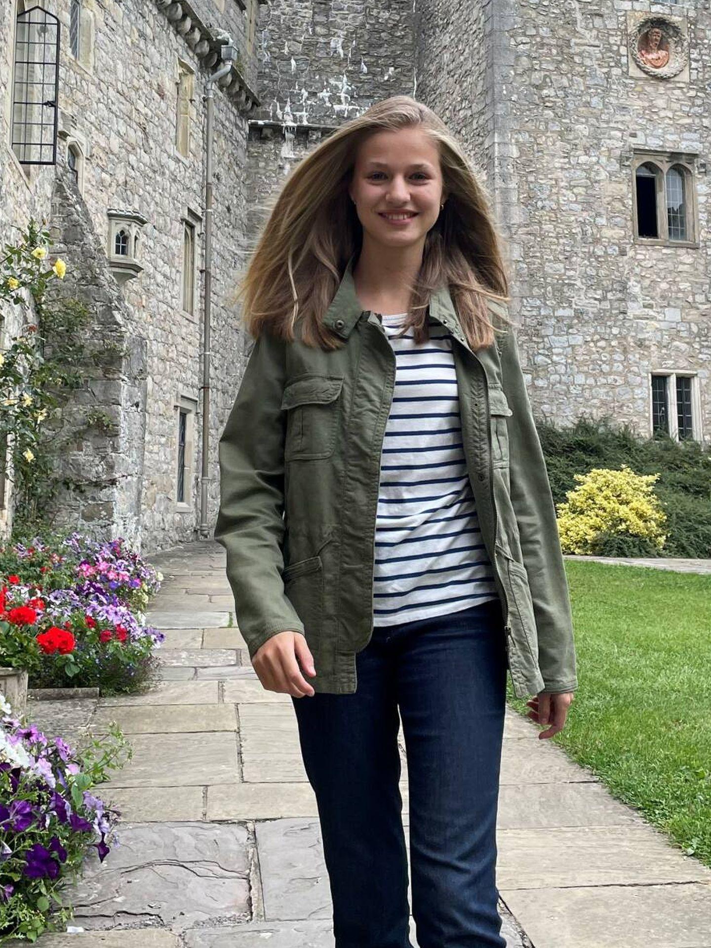 La princesa Leonor, en el UWC Atlantic College de Gales. (Casa de S. M. el Rey)
