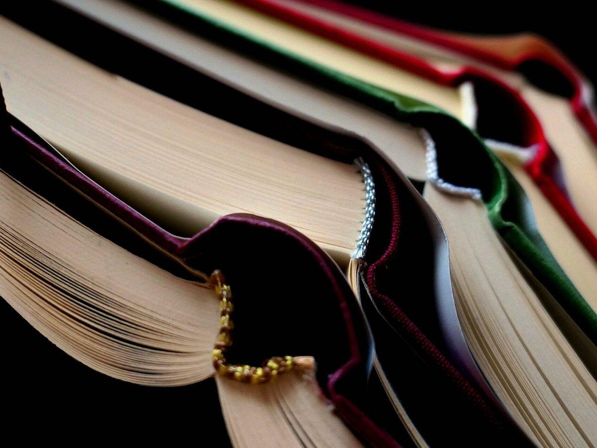 Foto: Varios libros abiertos apilados. (Pixabay)
