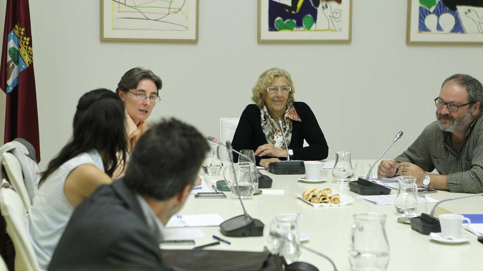 Foto: La alcaldesa de Madrid, Manuela Carmena, en una reunión de la Junta de Gobierno. (Efe)