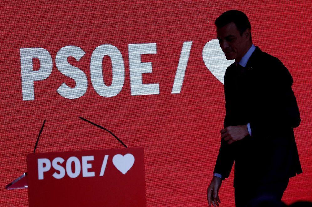 Foto: Pedro Sánchez, este 19 de febrero en la presentación de su precampaña a las generales. (EFE)