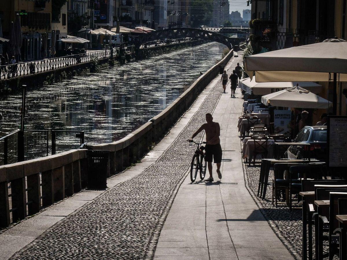 Foto: Ciudad de Milán durante una ola de calor en el mes de Agosto. Foto: EFE