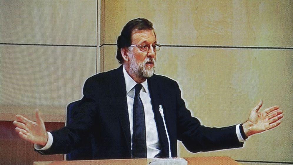 Foto: Mariano Rajoy, durante su comparecencia en la Audiencia Nacional en el marco del caso Gürtel. (EFE)