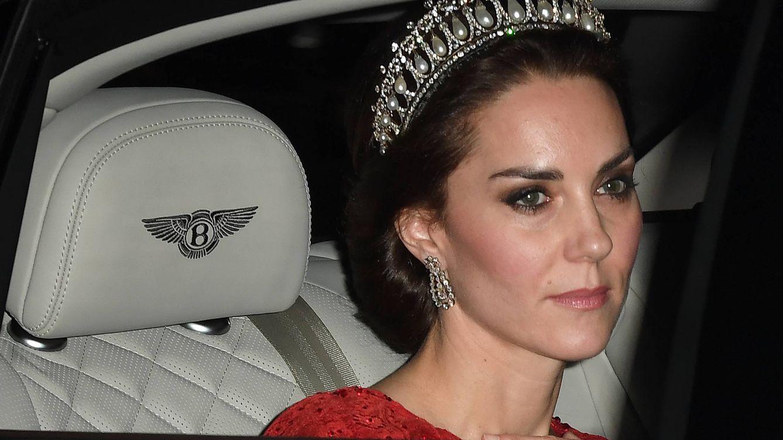 Foto: Kate Middleton durante su llegada al palacio de Buckingham (Gtres)