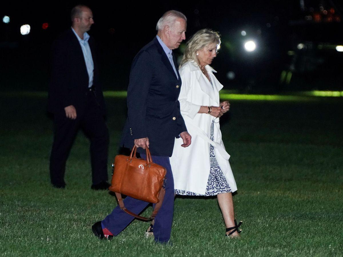 Foto: Jill Biden, llegando a Washington. (Reuters)