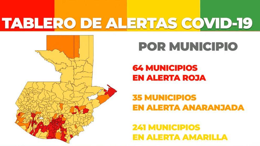 Guatemala implanta un sistema de alertas en cuatro colores contra covid-19