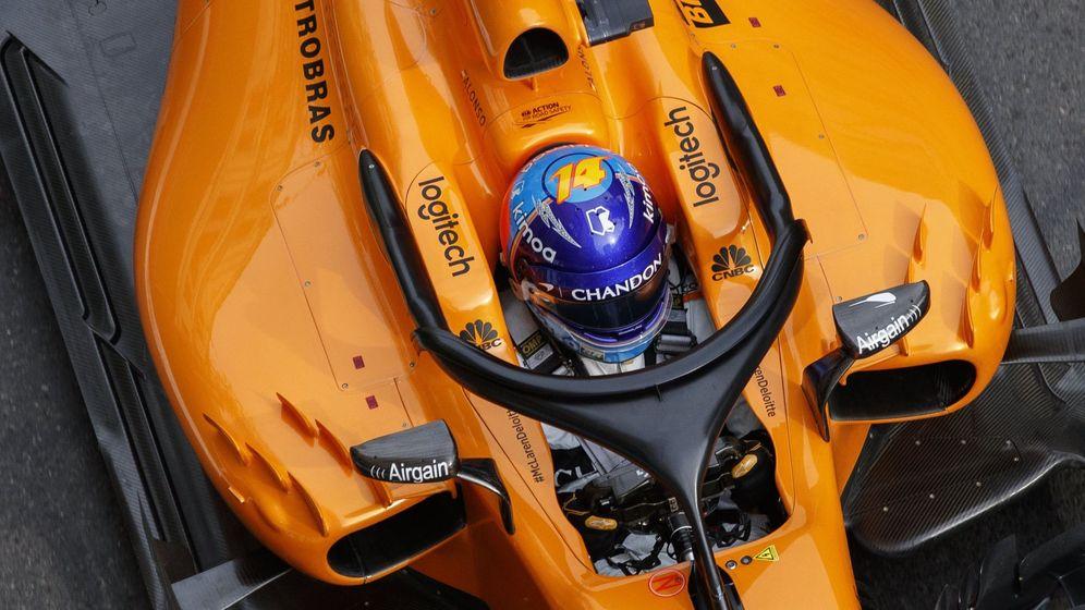 Foto: Fernando Alonso en el GP de Azerbaiyán. (EFE)