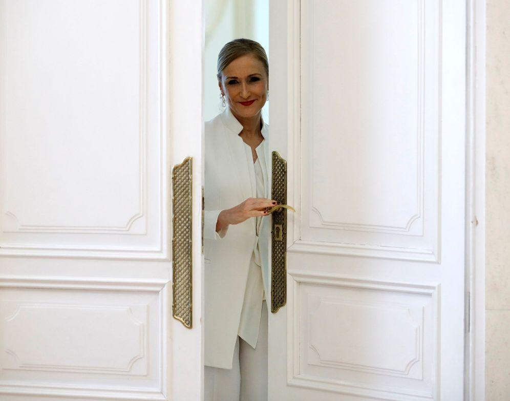 Foto: Cristina Cifuentes el día del anuncio de su dimisión. (EFE)