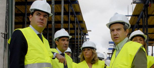 Foto: César Tomás Martín Morales (2i), junto a  Alfonso Bosch (i) y González Panero (d), imputados en Gürtel.