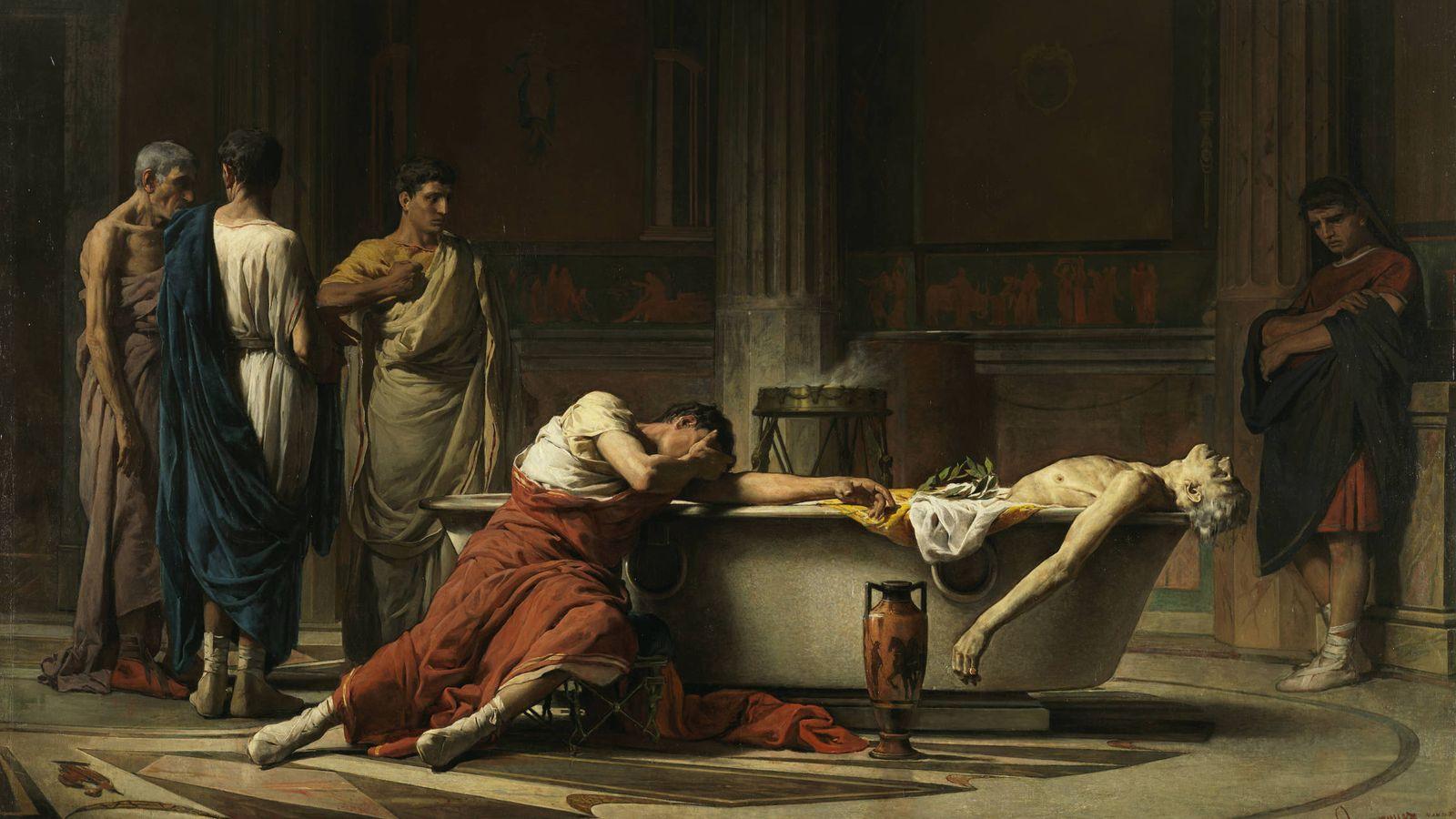 Foto: 'El suicidio de Séneca' de Manuel Domínguez Sánchez. (1871)
