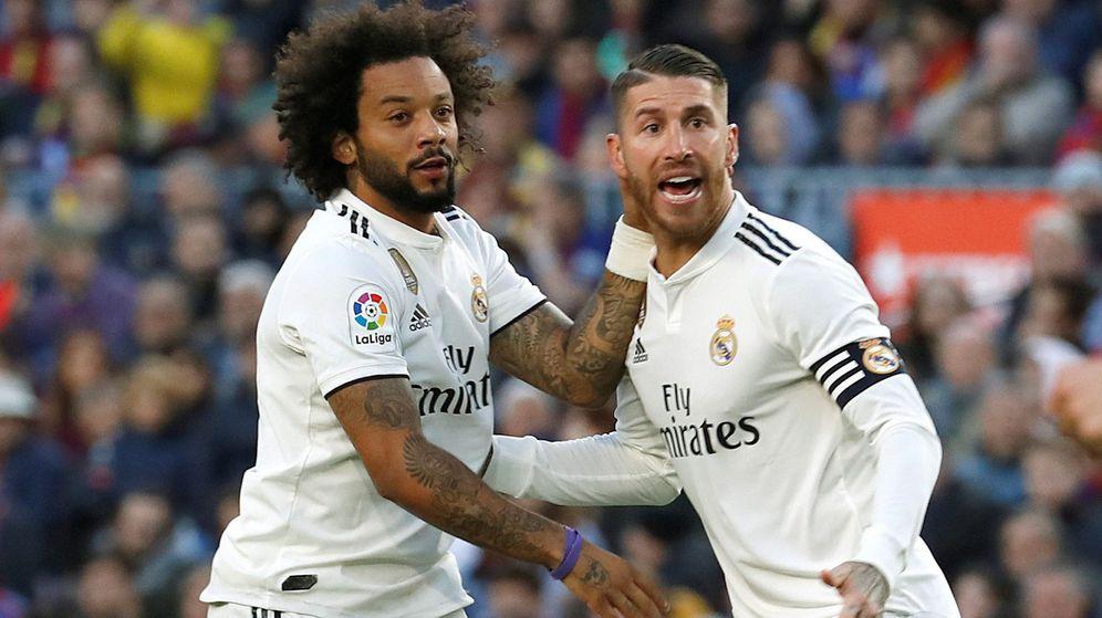 Foto: Sergio Ramos y Marcelo, los capitanes del Real Madrid, durante un partido. (EFE)