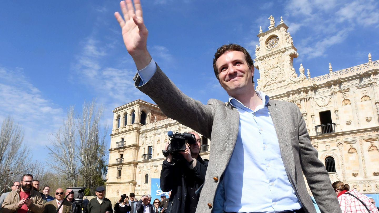 El presidente nacional del PP y candidato a la presidencia del Gobierno, Pablo Casado. (EFE)