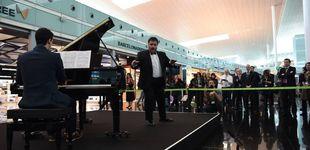 Post de La música en directo que sorprende a los viajeros de los aeropuertos de Aena