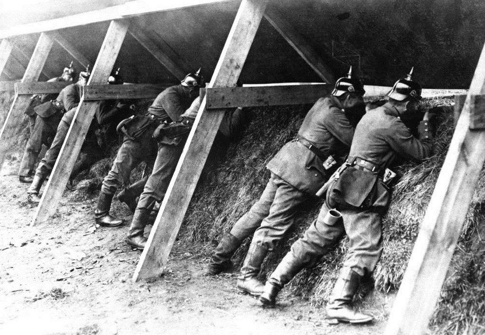 Foto: Soldados alemanes durante la I Guerra Mundial
