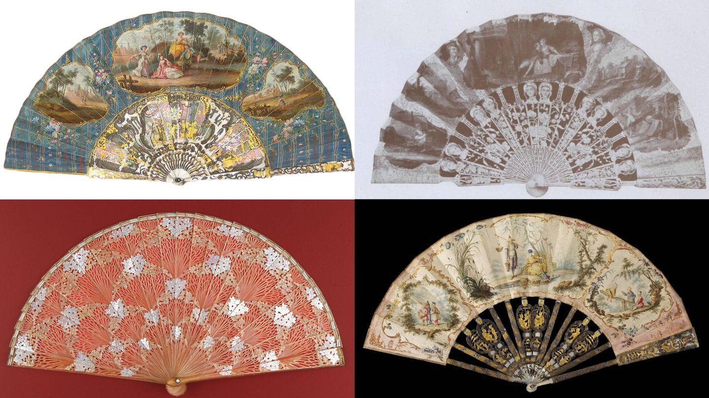 Abanicos representativos de distintos períodos de la historia y su estética (Fuente: Museo Lázaro Galdiano / Universidad Autónoma de Barcelona)