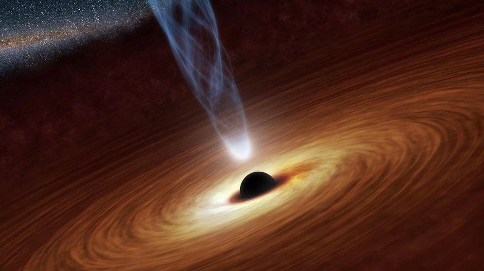Foto: Ilustración de un agujero negro supermasivo(Reuters)