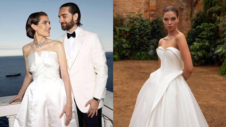 Carlota Casiraghi el día de su boda / Vestido HEIDI de White One. (Fotos oficiales / Cortesía)