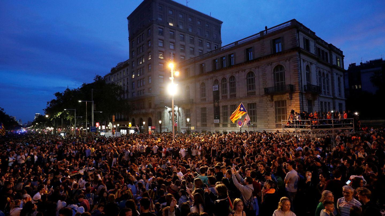 Imagen de la tarde de protestas en Barcelona. (Reuters)