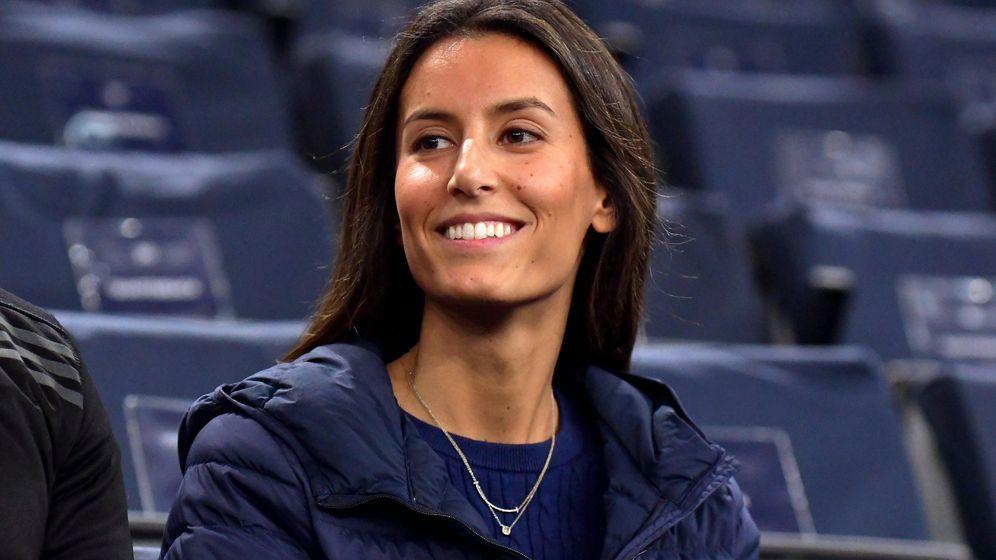 Foto: Ana Boyer en el Masters 1000 de París en 2017. (EFE)