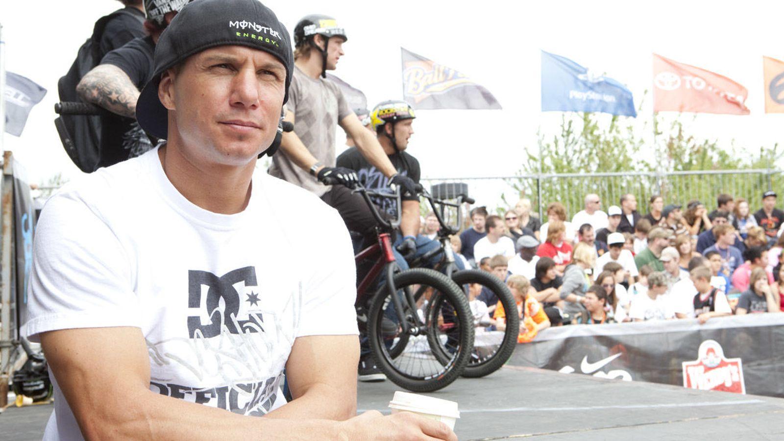 Foto: Dave Mirra, en una competición de 'BMX'.