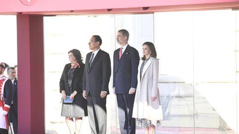 Todas las fotos del recibimiento de los Reyes al Presidente de Perú y la Primera Dama