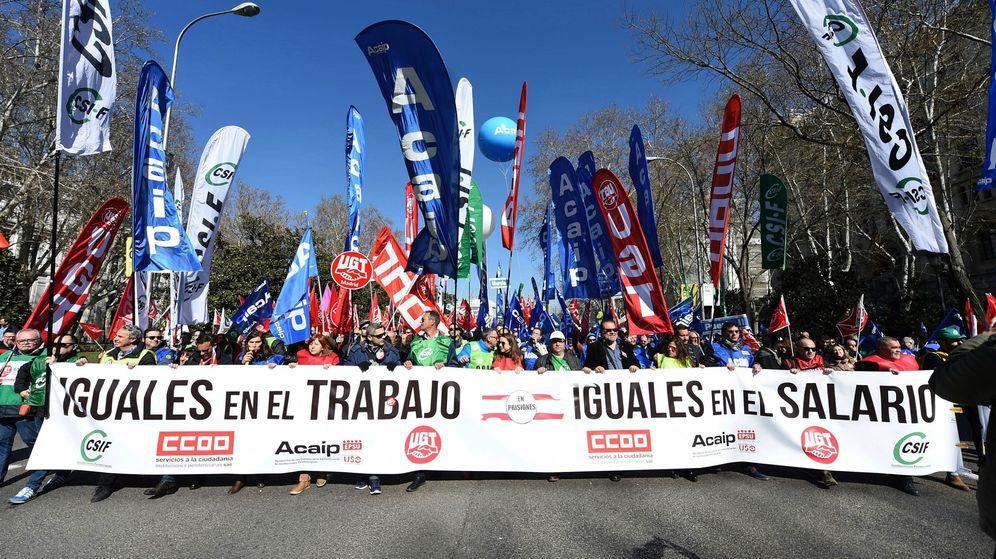 Foto: Manifestación de funcionarios de prisiones en Madrid. (EFE)