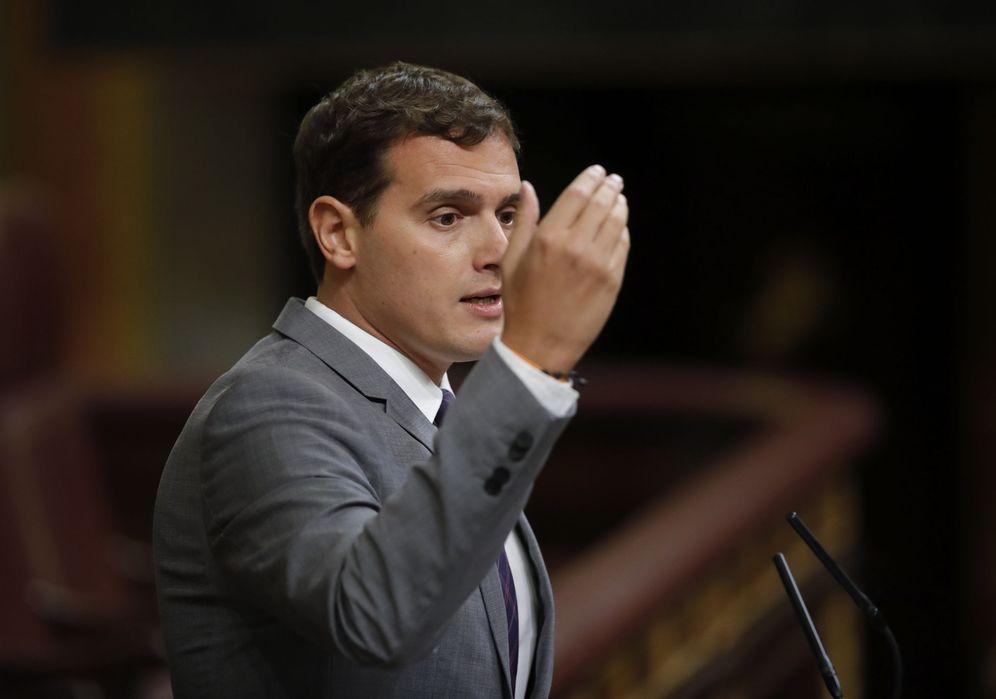 Foto: Albert Rivera, durante su intervención final en el debate. (EFE)