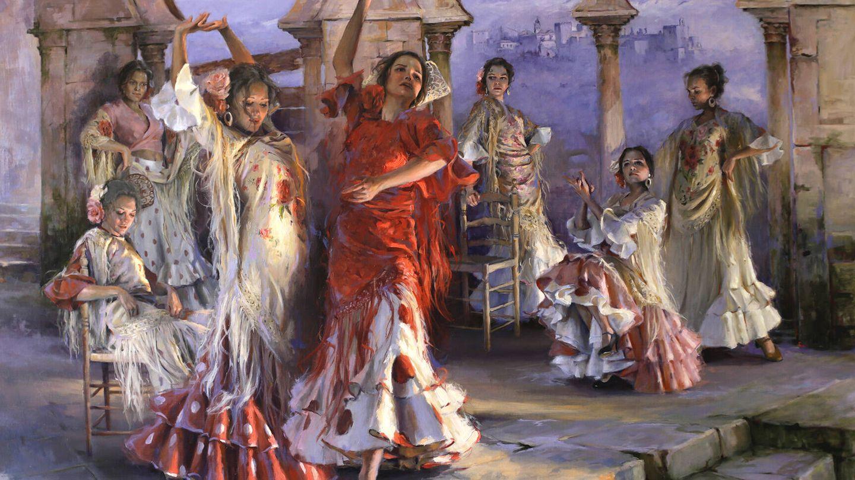'Hijas del Albaicín', uno de los cuadros de su última exposición. (Cortesía)