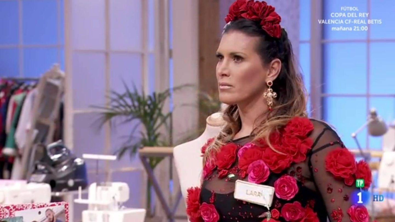 Lara Sajén, en 'Maestros de la costura 2'. (TVE)