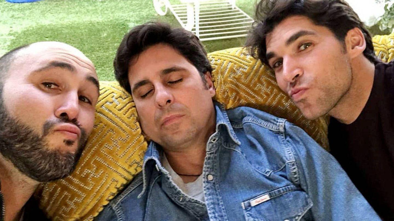 Los hermanos Rivera (Kiko, Fran y Cayetano), en una imagen de Instagram.