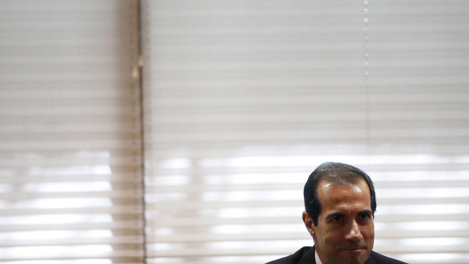 Foto: Salvador Victoria, en junio de 2017, en su comparecencia en la comisión de investigación de la Asamblea de Madrid.