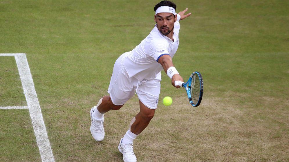 Foto: Fabio Fognini durante su duelo ante Tennys Sandgren en Wimbledon. (Reuters)