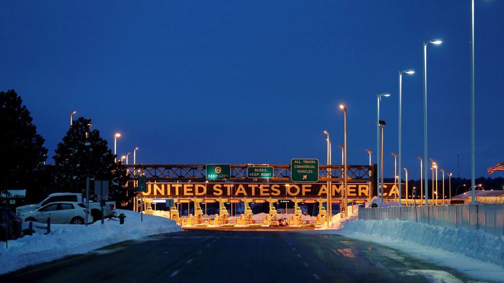 Foto: Frontera en Lacolle entre EEUU y Canadá. (Reuters)