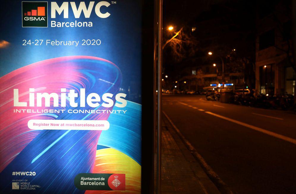 Foto: Publicidad del Mobile en las calles de Barcelona, el pasado 12 de febrero. (Reuters)