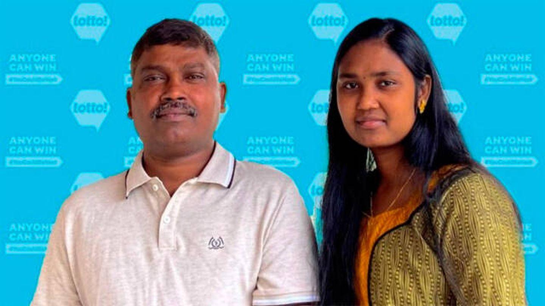 Frankis Christurasa y su hija Pirashalini se repartirán 85.000 euros (BCLC)