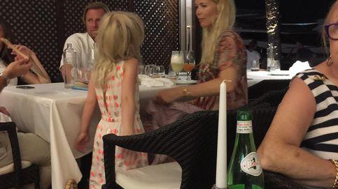 Claudia Schiffer, de cena en el restaurante favorito del Rey en Mallorca