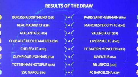 Así ha quedado el sorteo de Champions: Madrid y Atleti, contra los 'cocos' ingleses