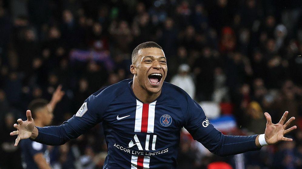 Foto: Kylian Mbappé celebra un gol con el Paris Saint-Germain. (EFE))