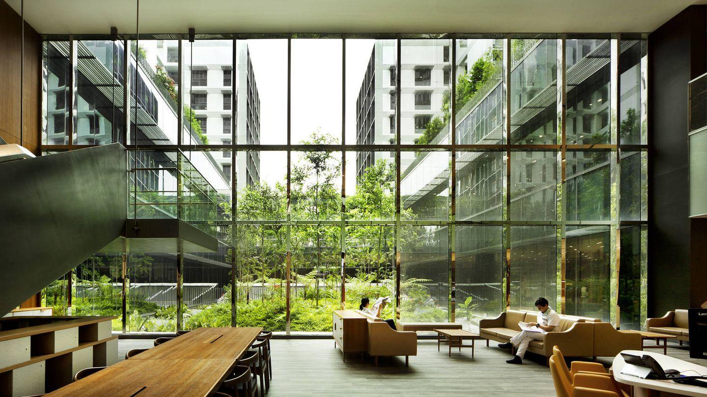 Zonas comunes de uno de los últimos desarrollos públicos de Singapur. (HDB)