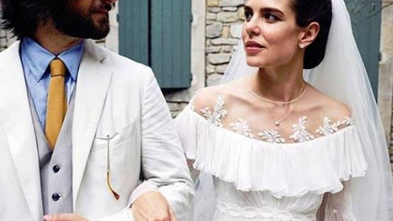 Carlota Casiraghi y Dimitri Rassam, en su boda religiosa. (Fotos oficiales)