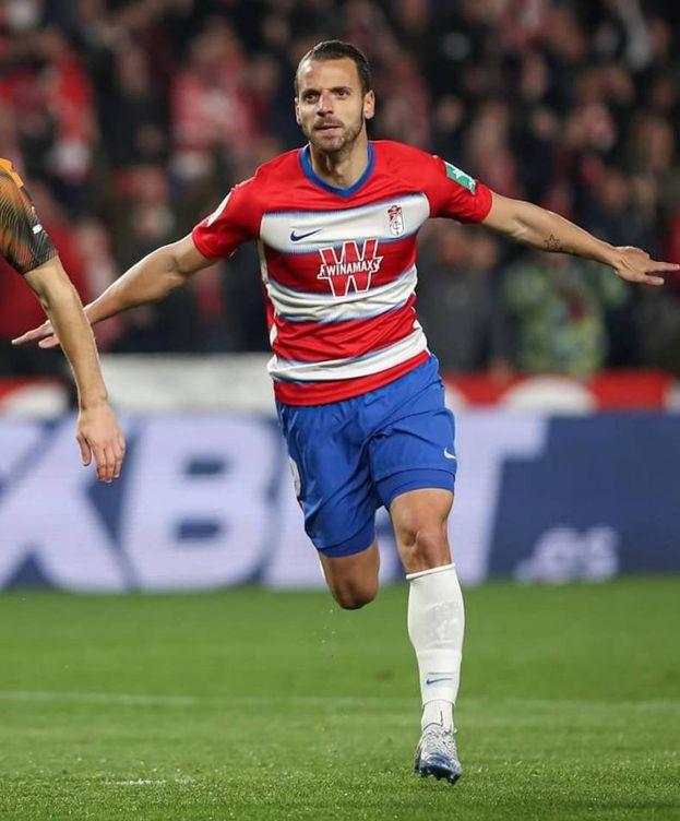 Foto: Roberto Soldado celebra un gol en un partido del Granada