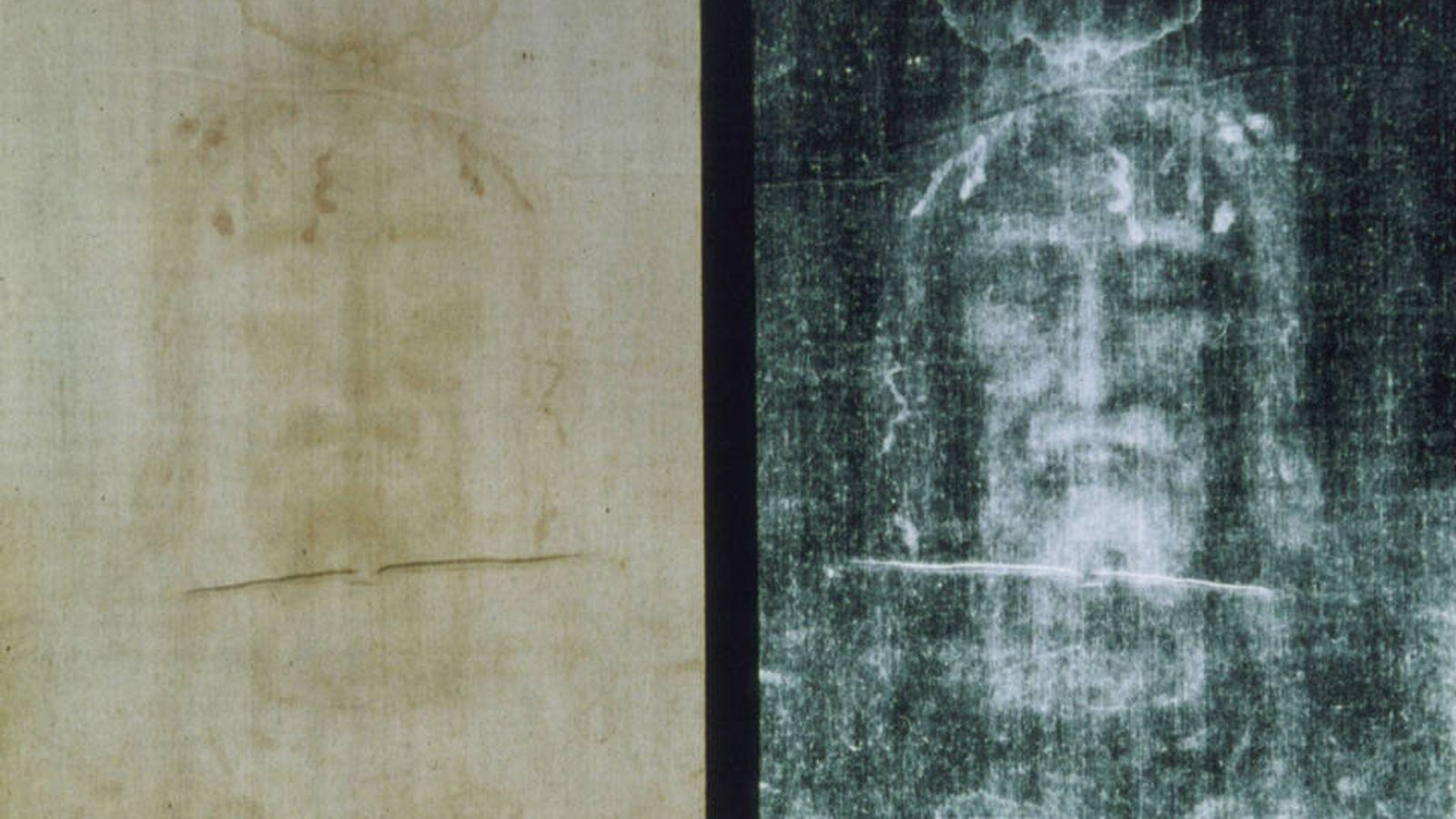 Foto: Rostro del sudario. (Wikimedia Commons)