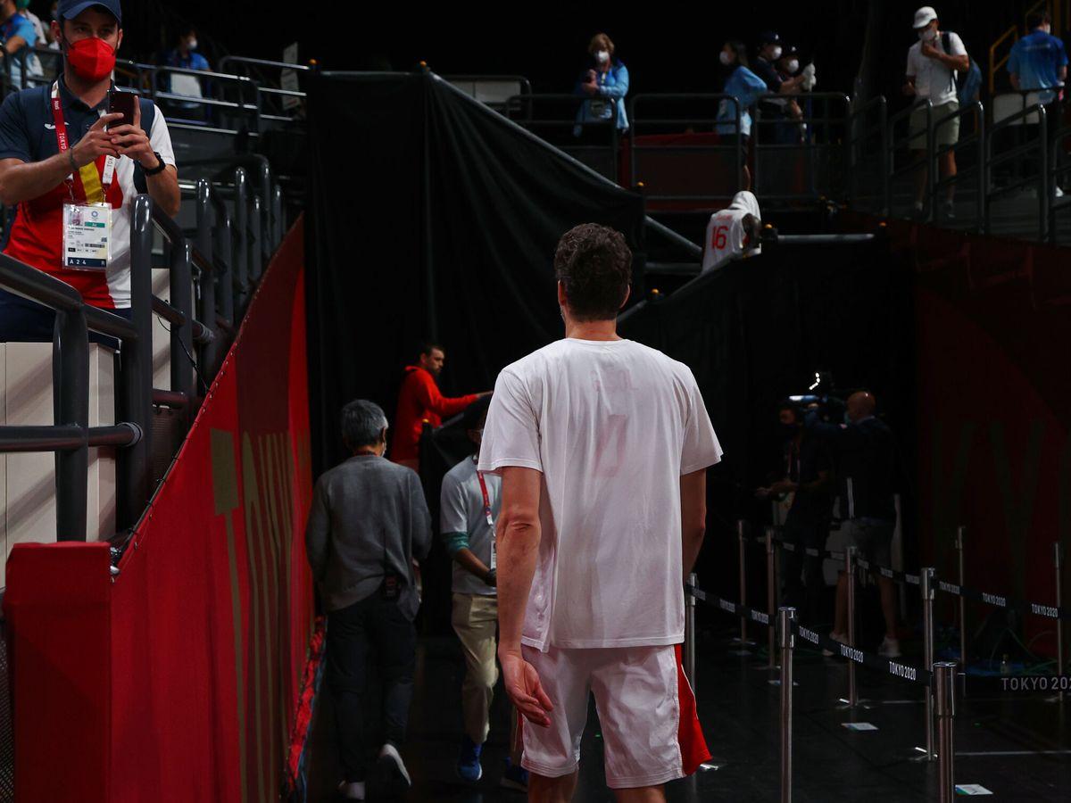 Foto: Pau Gasol abandona la cancha después del partido contra Estados Unidos. (Reuters)