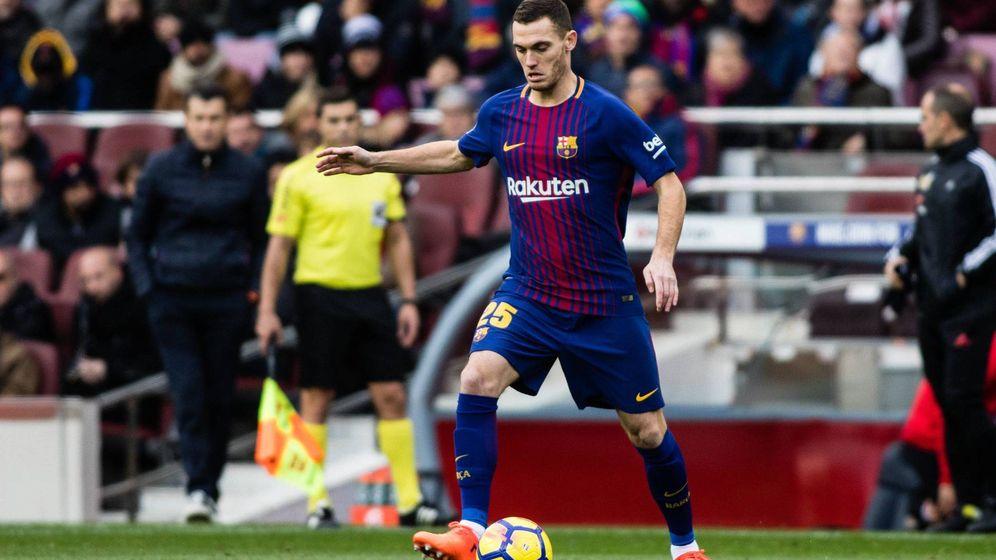 Foto: Vermaelen sustituyó a Umtiti en el FC Barcelona-Celta de Vigo. (Cordon Press)