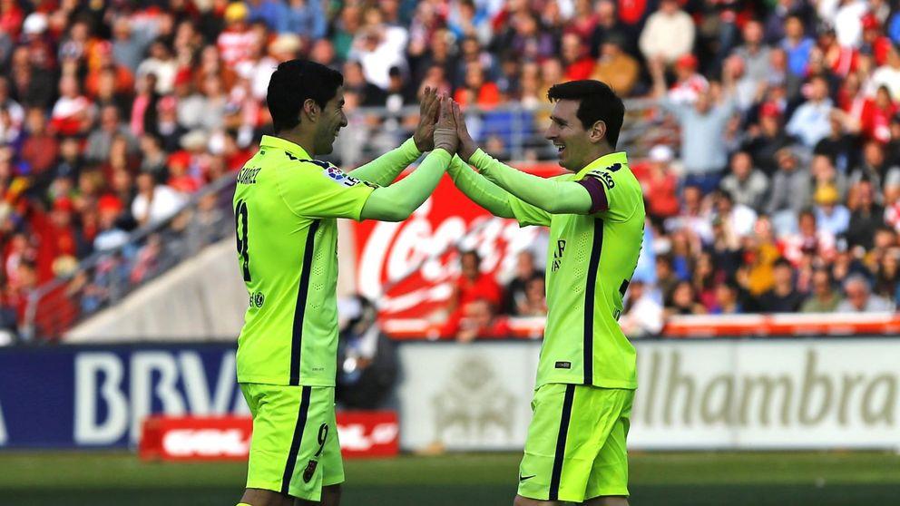 Suárez imita a Neymar para ser un colega perfecto para Leo Messi
