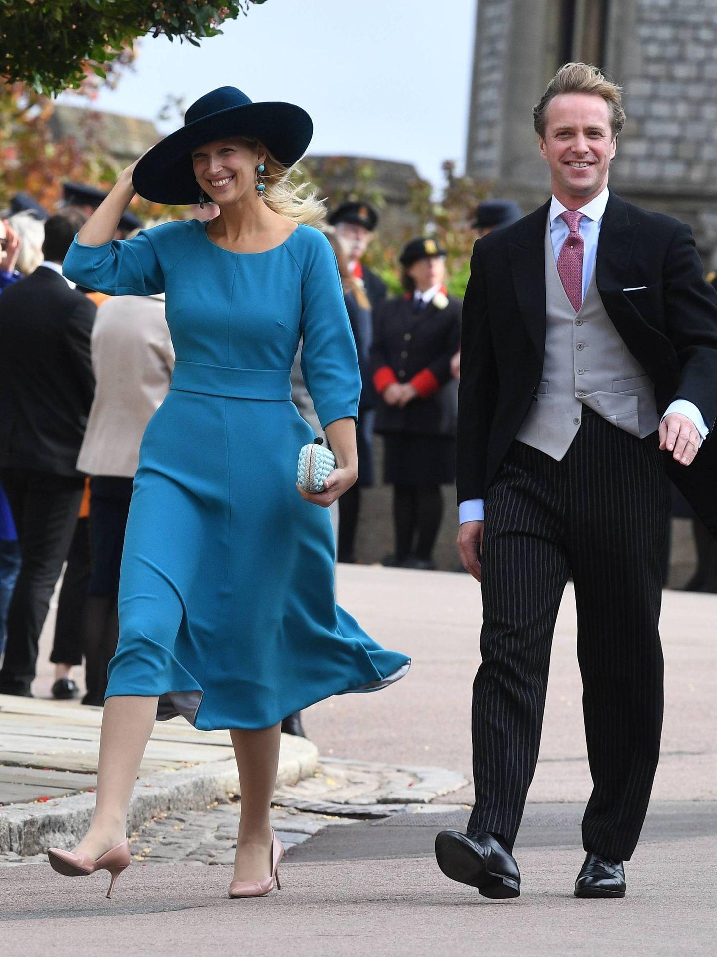 Lady Gabriella Windsor a su llegada a la boda de Eugenia de York. (Cordon Press)