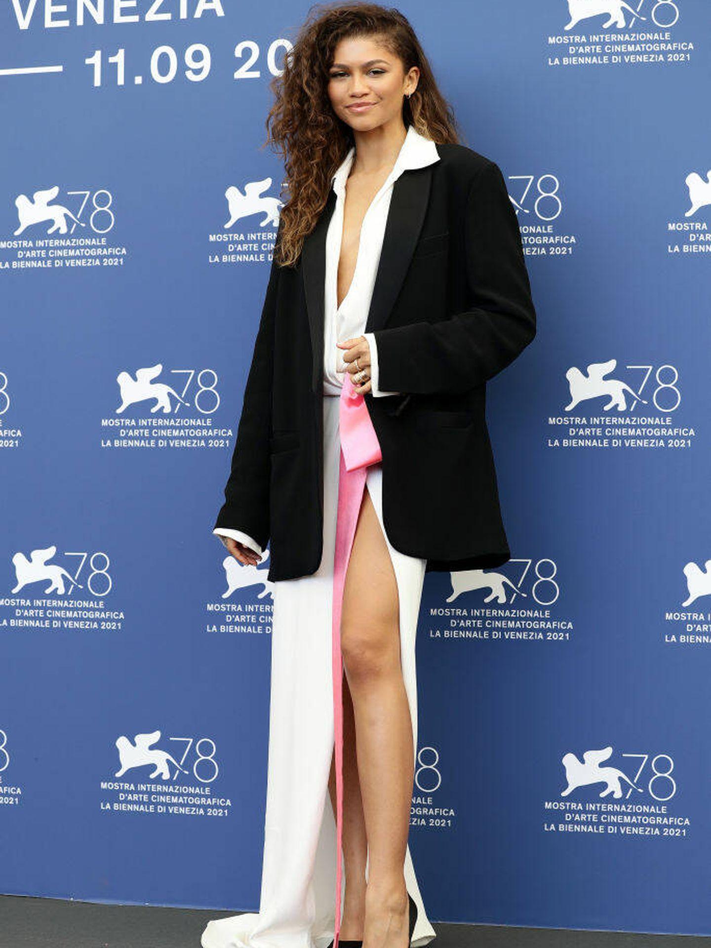 Zendaya posa en el photocall de 'Dune' en el Festival de Venecia. (Getty)