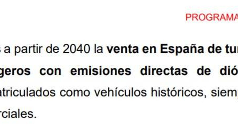 La primera versión de la medida 256 del 'Programa común progresista' del PSOE.